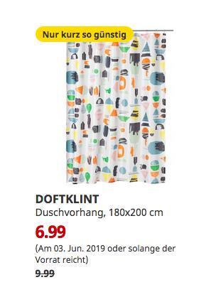 IKEA Augsburg - DOFTKLINT Duschvorhang, bunt, 180x200 cm - jetzt 30% billiger
