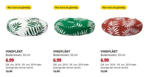 IKEA Berlin-Lichtenberg - VINDFLÄKT Bodenkissen, rund, 53 cm, weiß, grün oder dunkelrot - jetzt 46% billiger