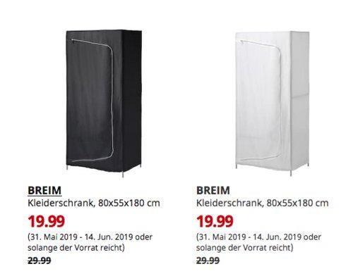 IKEA Berlin-Tempelhof - BREIM Kleiderschrank, 80x55x180 cm,schwarz oder weiß - jetzt 33% billiger
