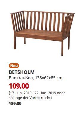 IKEA BETSHOLM Bank/außen, Akazie, 135x62x85 cm - jetzt 22% billiger