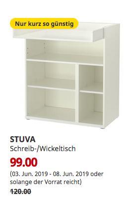 IKEA Bielefeld - STUVA Wickeltisch, 90x79 cm, 102 cm hoch,weiß - jetzt 18% billiger