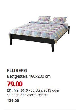 IKEA Braunschweig - FLUBERG Bettgestell, schwarzbraun, 160x200 cm - jetzt 43% billiger