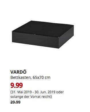 IKEA Braunschweig - VARDÖ Bettkasten, schwarz, 65x70 cm - jetzt 67% billiger