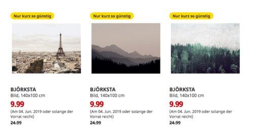 IKEA Bremerhaven - BJÖRKSTA Bild, 140x100 cm (Paris,Wanderung oderBaumwipfel) - jetzt 60% billiger