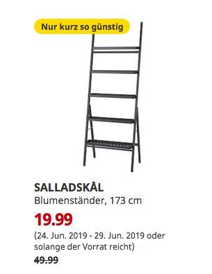 IKEA Bremerhaven - SALLADSKÅL Blumenständer, für draußen, grau, 173 cm - jetzt 60% billiger