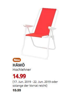 IKEA Chemnitz - HAMÖ Hochlehner, rot - jetzt 25% billiger