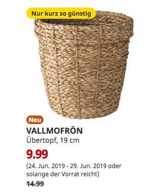 IKEA Dresden - VALLMOFRÖN Übertopf, Seegras, 19 cm - jetzt 33% billiger