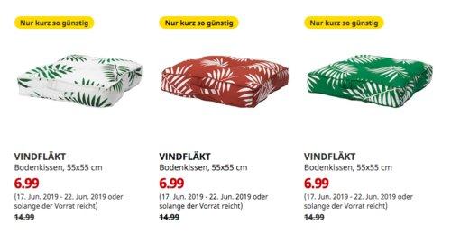 IKEA Dresden - VINDFLÄKT Bodenkissen, quadratisch, 55x55 cm, weiß, dunkelrot oder grün - jetzt 53% billiger