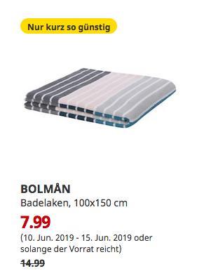 IKEA Erfurt - BOLMAN Badelaken, bunt, 100x150 cm - jetzt 47% billiger