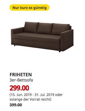 IKEA Kaarst - FRIHETEN 3er-Bettsofa, Skiftebo braun - jetzt 25% billiger