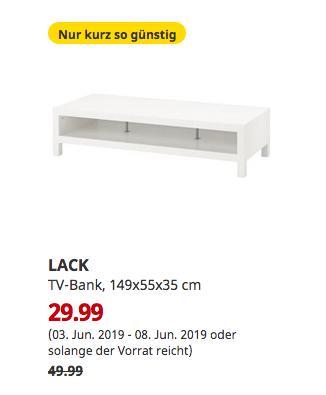 IKEA Kaarst - LACK TV-Bank, weiß, 149x55x35 cm - jetzt 40% billiger