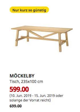 IKEA Kaarst - MÖCKELBY Tisch, Eiche, 235x100 cm - jetzt 14% billiger