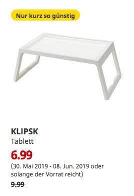 IKEA Kassel - KLIPSK Tablett, weiß - jetzt 30% billiger