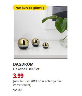 IKEA Kiel - DAGDRÖM Dekoball 3er-Set, messingfarben - jetzt 69% billiger
