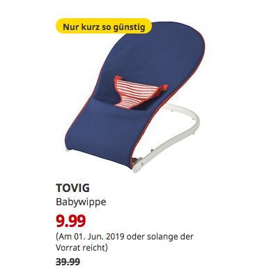 IKEA Kiel - TOVIG Babywippe, blau - jetzt 75% billiger