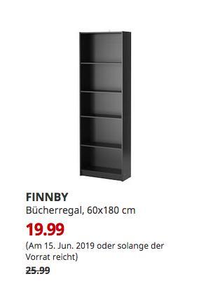 IKEA Koblenz - FINNBY Bücherregal, schwarz, 60x180 cm - jetzt 23% billiger