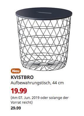 IKEA Koblenz - KVISTBRO Aufbewahrungstisch, dunkelblau, 44 cm - jetzt 33% billiger