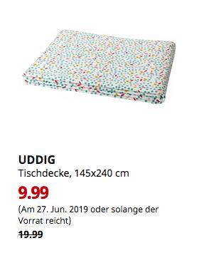 IKEA Koblenz - UDDIG Tischdecke, Punkte, 145x240 cm - jetzt 50% billiger