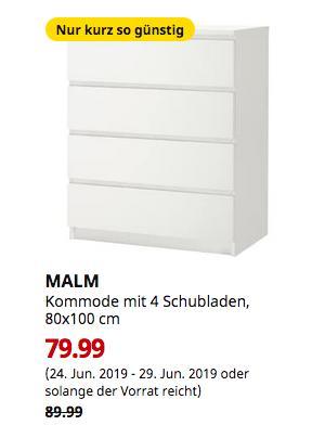 IKEA Ludwigsburg - MALM Kommode mit 4 Schubladen, weiß, 80x100 cm - jetzt 11% billiger