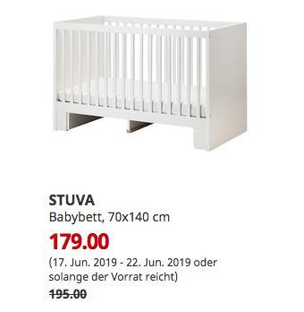 IKEA Ludwigsburg - STUVA Babybett, weiß, 70x140 cm - jetzt 8% billiger