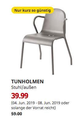 IKEA Ludwigsburg - TUNHOLMEN Stuhl/außen, grau - jetzt 32% billiger