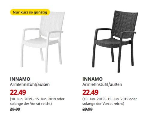 IKEA München-Brunnthal - INNAMO Armlehnstuhl/außen, dunkelgrau oderweiß - jetzt 25% billiger