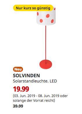 IKEA Magdeburg - SOLVINDEN Solarstandleuchte, LED, für draußen, gepunktet rot, 150 cm hoch - jetzt 50% billiger