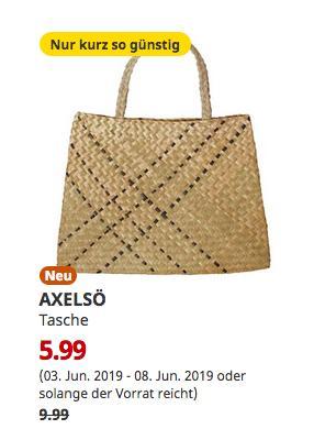 IKEA Osnabrück - AXELSÖ Tasche, Seegras, 60x41 cm - jetzt 40% billiger