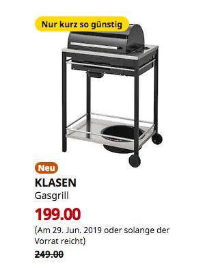 IKEA Regensburg - KLASEN Gasgrill, schwarz, 73x112x56 cm - jetzt 20% billiger