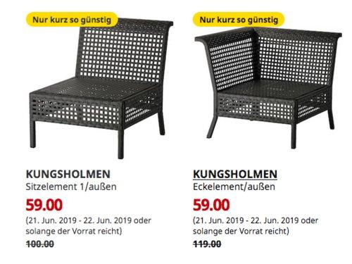 IKEA Saarlouis -  KUNGSHOLMEN Sitzelement 1/außen oder Eckelement/außen, schwarzbraun - jetzt 41% billiger
