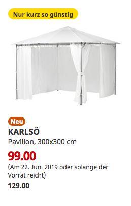IKEA Siegen - KARLSÖ Pavillon, weiß, 300x300 cm - jetzt 23% billiger