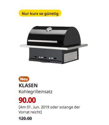 IKEA Siegen - KLASEN Kohlegrilleinsatz, schwarz - jetzt 25% billiger