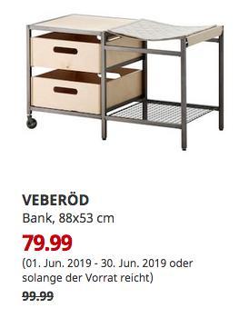 IKEA Ulm - VEBERÖD Bank, naturfarben, 88x53 cm - jetzt 20% billiger