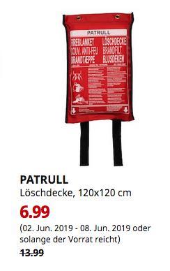 IKEAWürzburg - PATRULL Löschdecke, 120x120 cm - jetzt 50% billiger