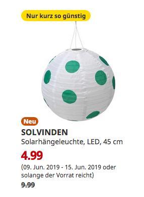 IKEA Würzburg - SOLVINDEN Solarhängeleuchte, LED, für draußen rund, gepunktet grün, 45 cm - jetzt 50% billiger