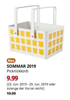 IKEA Würzburg - SOMMAR 2019 Picknickkorb, Metall, 26x21x37 cm - jetzt 50% billiger