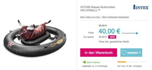 INTEX Wasser-Bullenreiten Badeinsel - jetzt 11% billiger