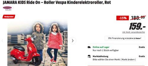 JAMARA KIDS Ride On – Roller Vespa Kinderelektroroller, rot - jetzt 11% billiger