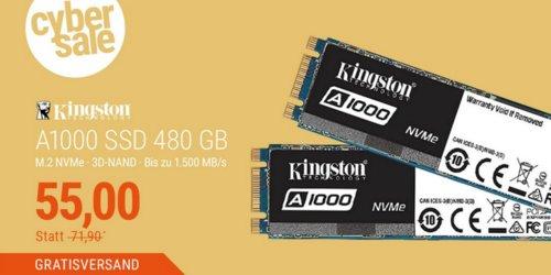 Kingston A1000 SSD M.2 480GB interne SSD-Festplatte - jetzt 20% billiger
