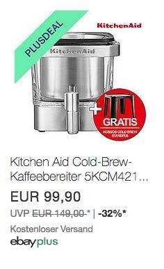 KitchenAid 5KCM4212SX Cold-Brew-Kaffeebereiter inkl. KitchenAid KCBSOB Ständer - jetzt 10% billiger