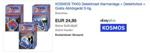 KOSMOS TKKG Detektivset - Alarmanlage + Detektivtool + Abhörgerät (654504, 654528, 654511) - jetzt 10% billiger