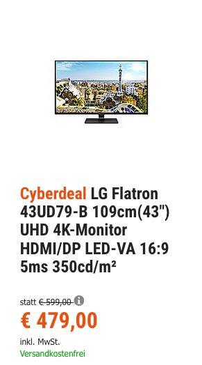 """LG Flatron 43UD79-B 109cm (42,5"""") UHD 4K-Monitor - jetzt 15% billiger"""