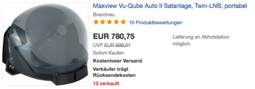 """Maxview vollautomatische Satanlage """"Vu-Qube Auto II"""", Twin-LNB - jetzt 1% billiger"""