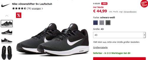 """Nike """"Downshifter 9"""" Herren Laufschuhe (40,5-47), versch. Farben - jetzt 9% billiger"""