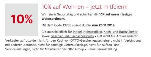 """Otto.de - 10% Extra-Rabat auf Möbel, Heimtextilien, Koch- und Backzubehör sowie Geschirr und Tischaccessoires: z.B. GRÄWE Messerblock """"CLEANCITCHEN"""", 6-teilig - jetzt 9% billiger"""