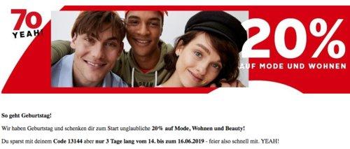 Otto.de  20 % Extra-Rabatt auf Mode, Wohnen und Beauty: z.B. fabrizio® Strandtasche , dunkelblau - jetzt 15% billiger