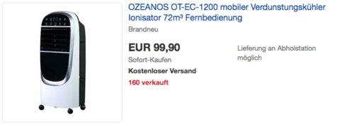 OZEANOS OT-EC-1200 mobiler Verdunstungskühler - jetzt 16% billiger