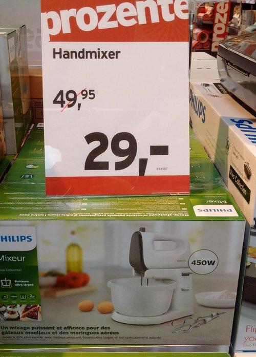 Philips-Handmixer HR 3746/00 inkl. Ständer mit Rührschüssel - jetzt 26% billiger