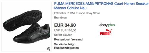 Puma Mercedes AMG Petronas Court Herren Sneaker, schwarz oder weiß (40-47) - jetzt 13% billiger