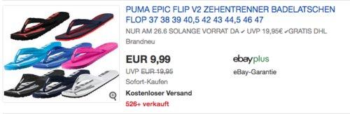 Puma Unisex-Erwachsene Epic Flip v2 Badelatschen, versch. Farben und Größen (37-47) - jetzt 20% billiger